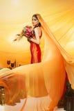 Braut mit langem Schleier Lizenzfreies Stockfoto