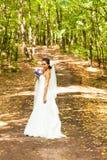Braut mit langem Schleier Lizenzfreies Stockbild