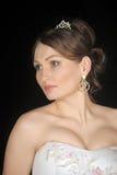 Braut mit Tiara Stockfoto