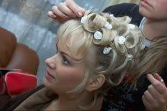 Braut, Morgen vor der Zeremonie Lizenzfreies Stockfoto