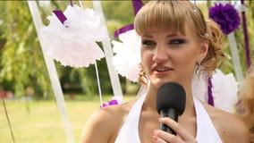 Braut sagt Versprechen stock video