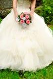 Braut Throwblumenstrauß Stockfotos
