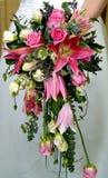 Braut u. Blumenstrauß Lizenzfreie Stockfotos