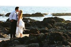 Braut u. Bräutigam Stockfotografie
