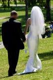 Braut-u. Bräutigam-Verlassen? Lizenzfreies Stockfoto