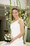 Braut und Blumen Stockbild