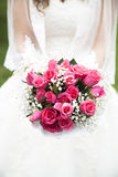 Braut und Blumenstrauß Lizenzfreies Stockbild