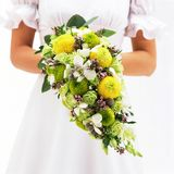 Braut und Bouquet-2 stockfotos