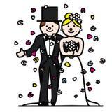 Braut und Bräutigam 2 Stockbild