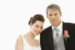 Braut und Bräutigam. lizenzfreies stockbild
