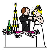 Braut und Bräutigam 7 Stockfotografie