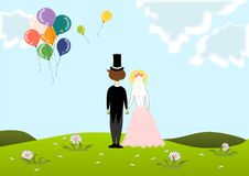 Braut und Bräutigam stock abbildung