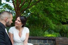 Braut und Bräutigam Marriage Concept Stockfoto