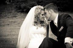 Braut und Bräutigam zusammen Lizenzfreies Stockbild