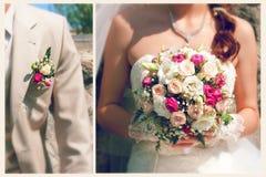 Braut- und Bräutigamaufstellung stockbild