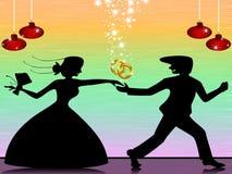 Braut- und Bräutigambetrieb Lizenzfreie Stockbilder