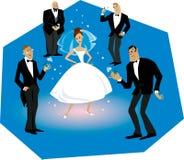 Braut und Bräutigame vektor abbildung