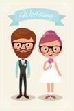 Braut- und Bräutigamhippies Lizenzfreie Stockbilder