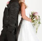 Braut- und Bräutigamkleider Stockbild