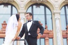 Braut- und Bräutigamliebe Lizenzfreies Stockbild