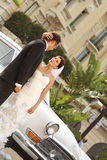 Braut- und Bräutigamliebe Lizenzfreie Stockfotografie