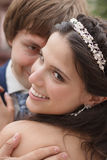 Braut- und Bräutigamnahaufnahme Lizenzfreies Stockbild