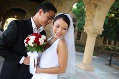 Braut und Bräutigam an der Hochzeit Lizenzfreies Stockbild