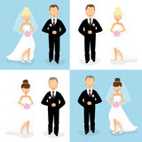 Braut und Bräutigam stellten 1 ein Stockfoto