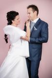 Braut- und Bräutigamporträt Lizenzfreies Stockfoto