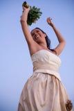 Braut und der Himmel Stockfotografie