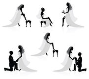 Braut und ein Bräutigam. lizenzfreie abbildung