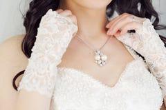Braut und Halskette Lizenzfreies Stockbild