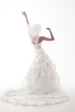 Braut in wedding weißem Kleid lizenzfreie stockfotografie