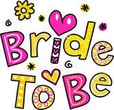 Braut zu sein vektor abbildung