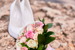 Brautattribute für die Heirat Lizenzfreie Stockfotografie