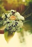 Brautblumenblumenstrauß Lizenzfreies Stockbild