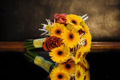 Brautblumenblumenstrauß Lizenzfreies Stockfoto