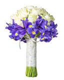 Brautblumenstrauß auf einem weißen Hintergrund Stockbilder