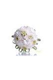 Brautblumenstrauß auf lokalisiertem Hintergrund mit Reflexion Stockbilder