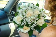 Brautblumenstrauß der Blumen stockbilder