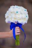 Brautblumenstrauß der weißen Blumen Stockbilder