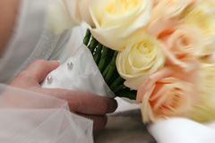 Brautdetails Stockbild
