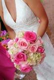 Brautholdingblumenstrauß Stockfoto