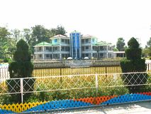A brautiful house in shopnopuri picnic spot. royalty free stock photo