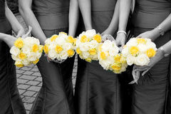 Brautjunfer-Blumenstrauß Stockfotos