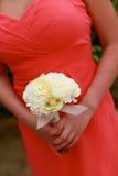 Brautjunferblumenstrauß. Stockfoto