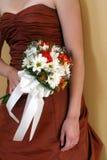 Brautjunferblumenstrauß Stockfotos