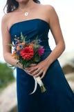 Brautjunferblumenstrauß Lizenzfreie Stockbilder