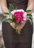 Brautjunferhochzeitsblumenstrauß Lizenzfreie Stockfotos