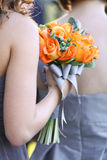 Brautjungfern-Rosen-Blumenstrauß Lizenzfreies Stockbild
